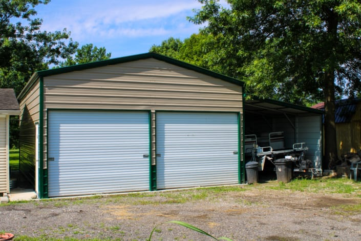 Two-Car Garage with Lean-To