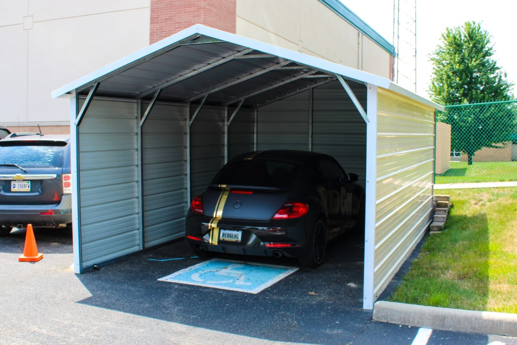 One-Car Enclosed Carport